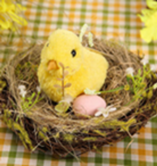 Beautifully Handcrafted, Baby Chick in nest - 10cm