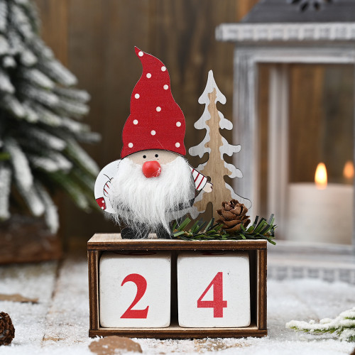 ADVENT - GNOME ELF COUNT DOWN CALENDAR - 15CM Christmas Decoration