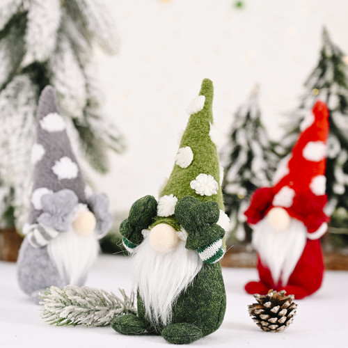 CHRISTMAS GNOME ELF - 23cm - RED