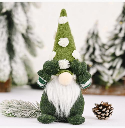CHRISTMAS GNOME ELF - 23cm - GREEN