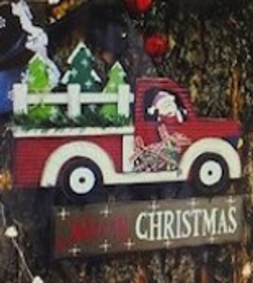 Gorgeous Classic Truck Christmas Sign - 40cm
