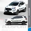 Ford EcoSport Side Door Stripes Hood Vinyl Graphics FLYOUT 3M 2013-2020 Premium and Supreme Install