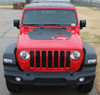 OMEGA HOOD : Jeep Gladiator Hood Decals with Star Vinyl Graphics Stripe Kit for 2020-2021