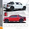 ANTERO : 2015-2021 Chevy Colorado Rear Truck Bed Accent Vinyl Graphic Decal Stripe Kit Wet and Dry Install Vinyl