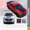 SUMMIT : 2015-2019 2020 2021 Chevy Colorado Hood Dual Racing Stripe Factory OEM Style Package Vinyl Graphic Decal Kit