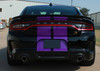 Back of black 2020 Dodge Charger SRT Scat Pack Stripes N CHARGE RALLY 2015-2021