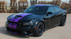 Side of black 2018 Dodge Charger Racing Stripes N-CHARGE 15 2015-2021