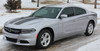Side view Dodge Charger Stripe Design RECHARGE 15 HOOD 2015-2021
