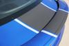 Close up of spoiler 2016 Camaro Racing Stripes HERITAGE center rally stripes