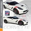 C7 HASHMARK | Chevy Corvette Fender Decals 2014-2018 Wet and Dry Install Vinyl