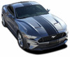 EURO RALLY   2018 2019 2020 Ford Mustang Center Vinyl Matte Black Stripe Premium and Supreme Install