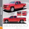 BREAKER : 2014-2018 Chevy Silverado Upper Body Line Accent Rally Side Vinyl Graphic Decal Stripe Kit