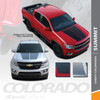 SUMMIT : 2015-2019 2020 2021 Chevy Colorado Hood Dual Racing Stripe Factory OEM Style Package Vinyl Graphic Decal Kit