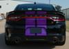 Back of black Scat Pack Dodge Charger SRT Stripes N CHARGE RALLY 2015-2021