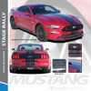 "STAGE RALLY : 2018 Ford Mustang Stripes Lemans Style 7"" Wide Racing Rally Stripes Vinyl Graphics Kit"