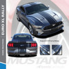 EURO XL RALLY : 2018+ Ford Mustang Stripes Euro Style Center Wide Racing Stripes Vinyl Graphics Kit