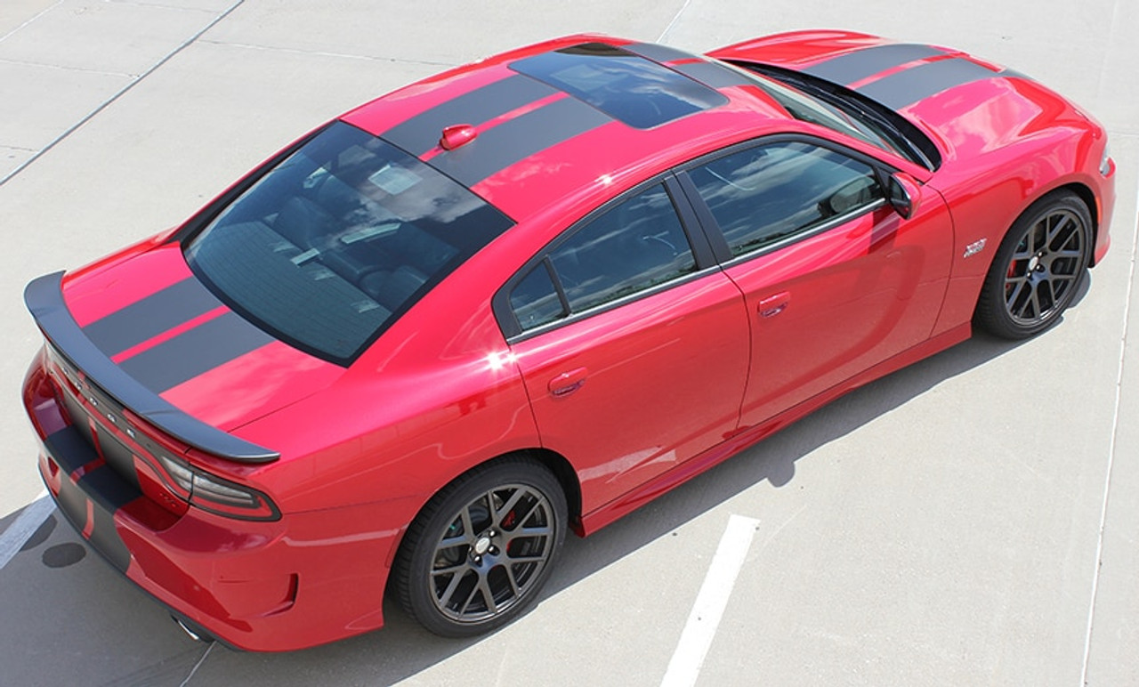 Dodge Charger Carbon Fiber Stripes N Charge Rally Hellcat 2015 2021