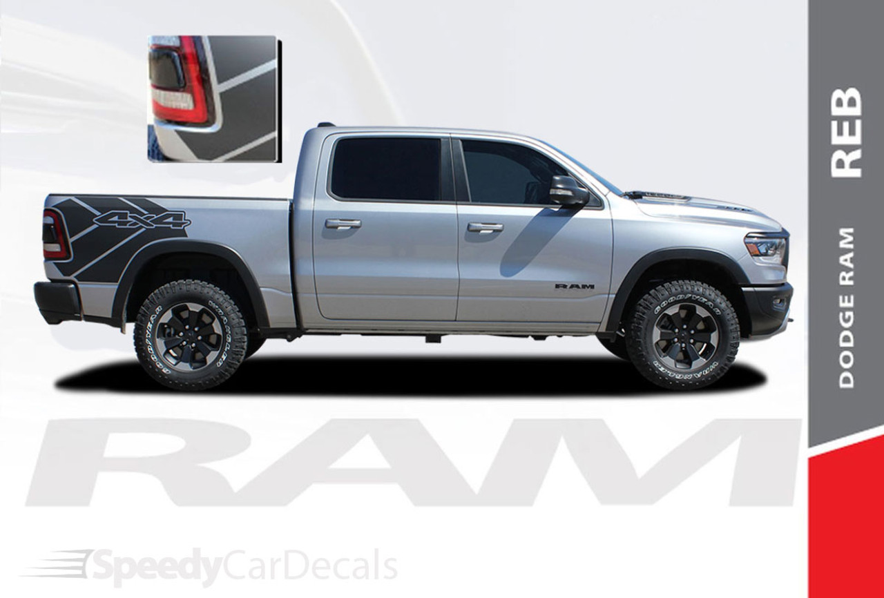 Dodge Ram 1500 Rebel Reb Sides Vinyl Graphic Stripes 2019 2021