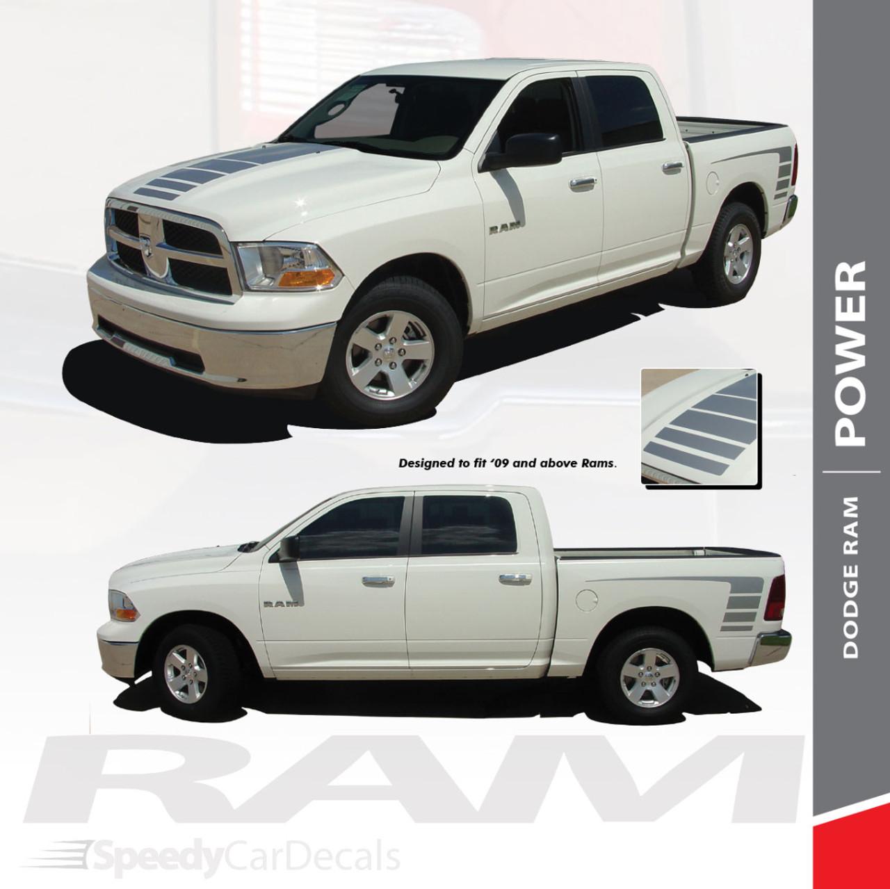 Power Dodge Ram Power Wagon Decals Vinyl Graphics 3m 2009 2018 Premium And Supreme Install Speedycardecals Fast Car Decals Auto Decals Auto Stripes Vehicle Specific Graphics