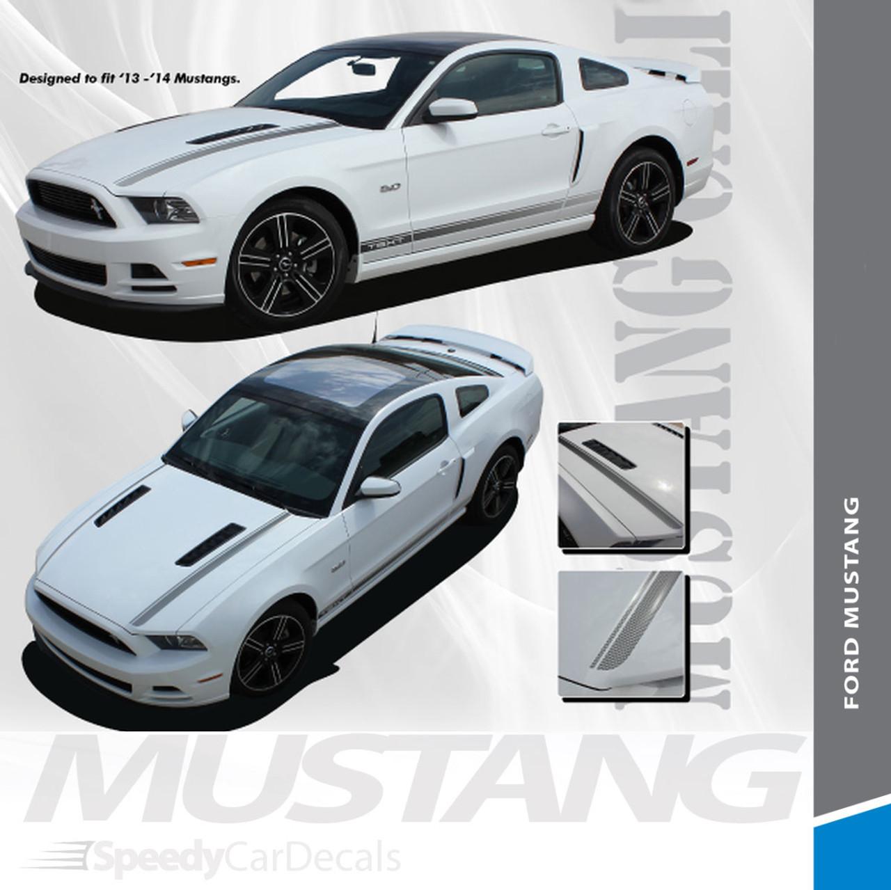 CALIFORNIA SPECIAL GT//CS Rocker Hood Vinyl Stripe Decal Graphic 2014 Mustang K33