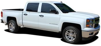 Side View of 2015 Chevy Silverado Upper Body Graphic Stripes ELITE 2013-2018