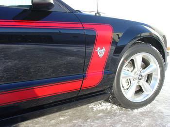 Ford Mustang Side Custom Stripes 3M FASTBACK 1 2005-2009