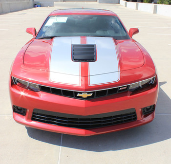 Front of Chevy Camaro SS Racing Stripes S-SPORT 3M 2014-2015