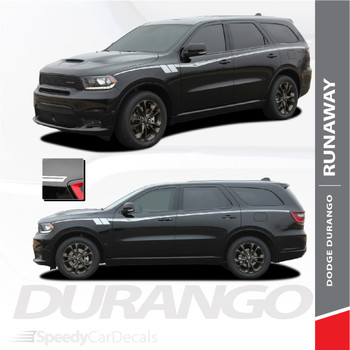 DURANGO RUNAWAY | Dodge Durango Side Stripes 2011-2018 2019 Wet and Dry Install (SCD-6075)