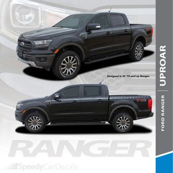 2019 2020 2021 Ford Ranger Stripes Side Body Line Door Decals Vinyl Graphics UPROAR 3M