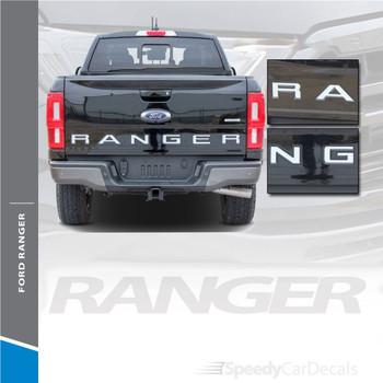 Ford Ranger Tailgate Stripes RANGER TAILGATE LETTERS 2019-2020