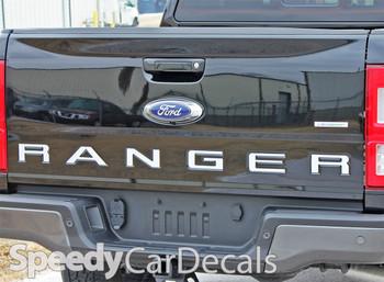 Black 2019 Ford Ranger Tailgate Decals 2019 2020 FORD RANGER TAILGATE