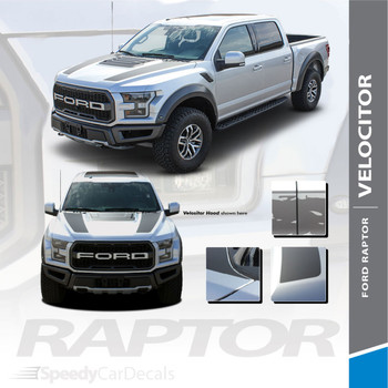 Ford Raptor F-150 Hood Stripes Decals VELOCITOR HOOD 2018 2019 2020 Premium Auto Striping