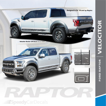 Ford Raptor F-150 Rocker Stripes Door Decals VELOCITOR ROCKER 2018 2019 2020 Premium and Supreme Install