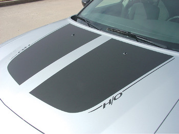 Hood View of 2006 Dodge Charger RT Decals CHARGIN 2006 2007 2008 2009 2010