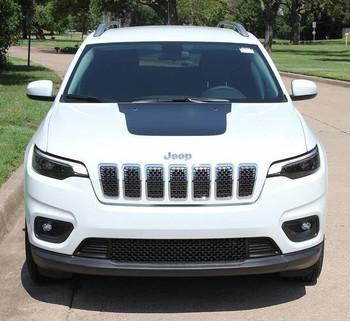 Front Hood of 2019 Jeep Cherokee Hood Graphics T-HAWK HOOD 2014-2020
