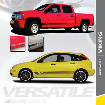 VIKING : Universal Fade Style Vinyl Graphics Rocker Panel Stripes