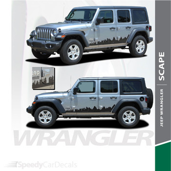 2018-2021 Jeep Wrangler Side Decals SCAPE Stripe Kit 3M Premium and Supreme Install