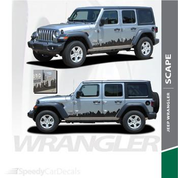 2018-2021 Jeep Wrangler Side Decals SCAPE Stripe Kit 3M Premium Auto Striping