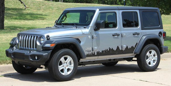 Side View of 2019 Jeep Wrangler Side Decals SCAPE SIDE KIT 2018-2020