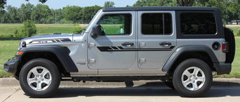 Side View of 2019 Jeep Wrangler Stripes BYPASS SIDE KIT 2018-2020