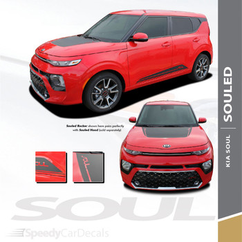 2020 2021 Kia Soul Hood Stripes and Lower Rocker Panel SOULED 3M Premium Auto Striping
