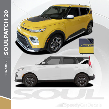 2020 2021 Kia Soul Hood Graphic and Rear Body Decal SOULPATCH 20 3M Premium and Supreme Install Vinyl