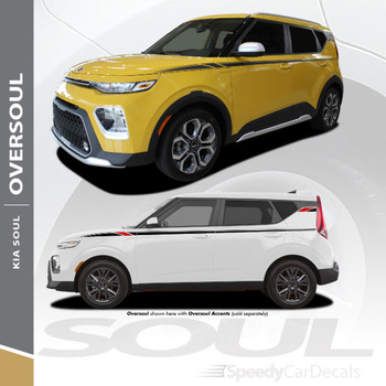 2020 2021 Kia Soul Upper Body Accent Stripe Decals Vinyl Graphics OVERSOUL 3M Premium Auto Striping