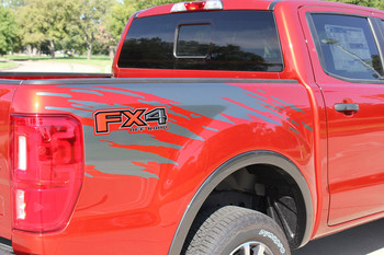 Close up of 2020 2021 Ford Ranger Bed Side Stripes GUARDIAN 2019-2020 2021