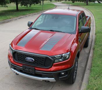 2019 2020 2021 Ford Ranger Hood Stripes NOMAD HOOD 3M Premium Wet Install