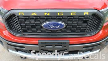 Ford Ranger Grill Stripes RANGER GRILL LETTERS 2019-2020 | Standard Vinyl