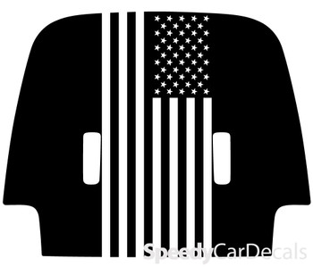 2020 Jeep Gladiator Hood Decals SPORT HOOD with Flag 3M or Avery Supreme or 3M 1080 Wrap Vinyl