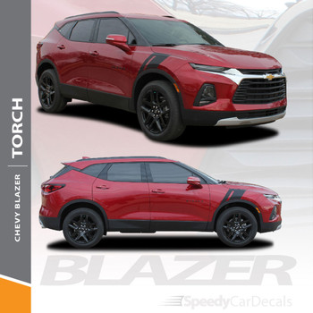 Chevy Blazer Side Fender Stripes Decals TORCH Vinyl Graphic Kits 2019 2020 2021 Premium and Supreme Install Vinyl (SCD-6818)