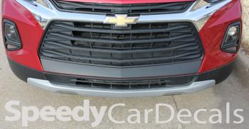 Front View of ERASER BUMPER GRAPHIC | 2019-2020 Chevy Blazer Front Bumper Stripes
