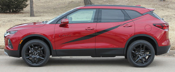 Profile View of FLASHPOINT SIDE KIT | 2019 2020 2021 Chevy Blazer Body Stripes
